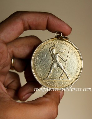 Back-lightroom British Coorg History india indian Knowlegde Martial medal Warrior Kodagu kodava wealth hindu medal 1837