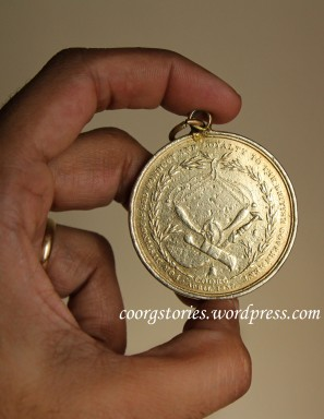 Front-lightroom British Coorg History india indian Knowlegde Martial medal Warrior Kodagu kodava wealth hindu  medal 1837